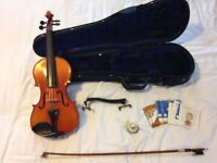 Student Violin Outfit (4/4) – Violin by Maurice Debourde 1995