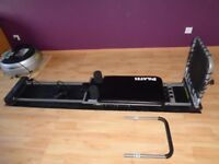 Aero JP 295 Pilates Machine with a cardio rebounder, base mat and three dvd's. Very good condition.