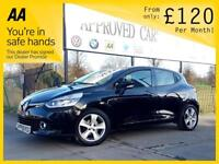 RENAULT CLIO 1.1 DYNAMIQUE MEDIANAV 5d 75 BHP Apply for finance Online today! (black) 2013