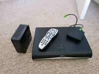 2 x Sky+ HD boxes with router