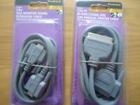 Large bundle of brand new Printer & Monitor cables 'Maxview'