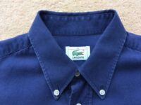 """Lacoste short sleeve casual shirt. Navy Blue. Chest 40"""". In very good condition."""