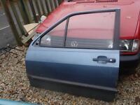 VW polo breadvan passenger side car door blue mk2