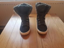 Next Women's Furry Trainers Size 5 - Very Good Condition