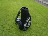 callaway big bertha black leather tournament bag