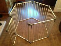 Baby play pen guard metal adjustable size and shape