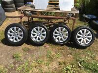 """VW Polo Alloy Wheels With Tyres 9 spoke Ronal 6J X 14"""" 5 X 100 - to fit 2005 -2009 polo"""