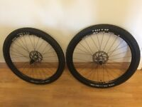 "27.5"" WTB ST i19 650b bike wheel set with tubeless tyres and discs"