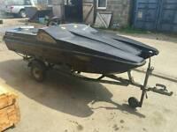 Micra cat 2 seater mini speedboat 3.2m on trailer