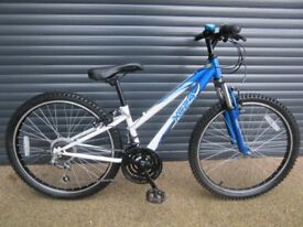 APOLLO XC24. FRONT SUSPENSION BIKE IN ALMOST NEW CONDITION.. (SUIT APPROX. AGE. 8 / 9+)..