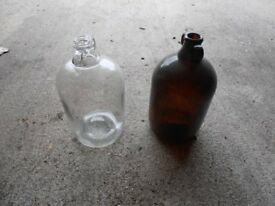 Used 1 gallon glass demijohns