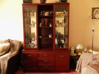 Mahognay display cabinet