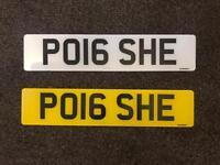 Porsche Number Plate - PO16SHE