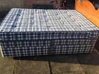 For sale double divan bed