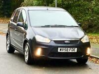 2008 FORD C-MAX 1.8 ZETEC CLIMATE FULL YEARS MOT LOW MILEAGE SERVICE HISTORY
