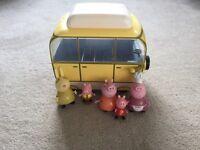 Peppa pig caravan and figures