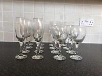 Set of 16 Wine & Champagne Glasses / Flutes