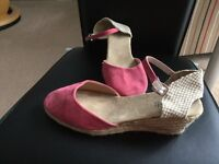 Pink sude shoes