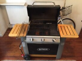 Outback 3 Burner Gas Barbecue (BBQ) with cover