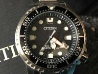 Citizen Eco drive divers200mtrs in stainless
