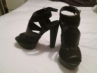 Black high heels size 5 never worn