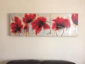 Landscape Flower Canvas