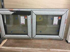 Black wood grain window