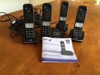 BT 8500 Quad telephone set/answering machine/nuiscance call blocker