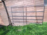 Salvaged metal (iron?) fence panel