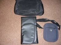 Changing bag with mat and a bottle bag never been used. unsex