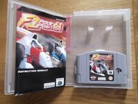 F1 Pole Position 64 - Nintendo 64 motor racing game with instructions & storage display box