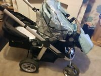 I candy apple to pear pushchair with loads of extras.