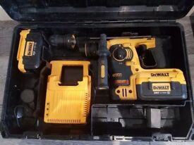 DeWALT DCH364 36V LI-ION Twin chuck, 3 Mode SDS + 2x4ah battery + charger,,,,,, makita