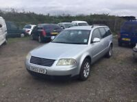 DIESEL VW PASSAT ESTATE CAR WITH LEATHER DTIVES WELL STARTS FIRST TIME ANY TRIAL PX CONSIDERED