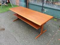 Mid Century Teak Retro Coffee Table