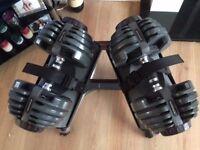Bowflex 2-21 kg adjustable dumbbells dumbells with stand