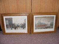 2 Framed Prints by L.S. Lowry