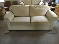 Cream large sofa, matching sofa bed available