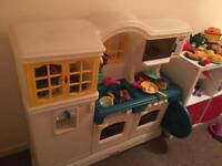 Little Tikes play kitchen with over 100 additional items