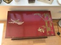 Antique Chinese Style Lacquered Bed Box