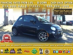2015 Fiat 500 Sport-$38-Wk-CleanCarproof-Bluetooth-AUX/CD/Mp3