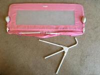 Childrens kids toddlers Tomy bed guard rail bedrail in pink