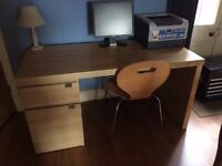 Ikea Malm Style Desk and Chair