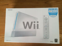 Nintendo Wii - complete console including Wii Sports game all in original box.