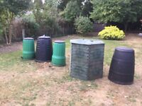 Compost bins in good condition