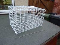 Metal pet cage.
