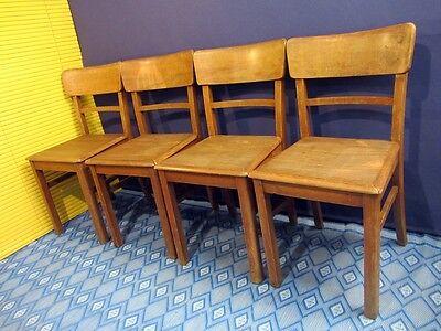 4er-Set alte Holz-Stuhl Stühle Kneipenstuhl Bistro Kaffeehaus 40er 50er