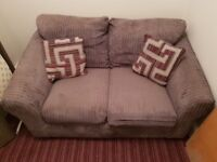 Small jumbo cord sofa, used but deal for studio or small flat