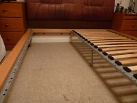 King size solid wood bed, with Mattress and headboard