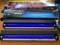 2 Black Lights. Fluorescent Tube. 60cm Ultraviolet Light. UV